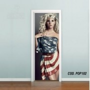 Adesivo De Porta Kesha Rose mod03