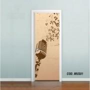 Adesivo De Porta Música cod.mus01