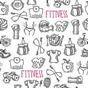 Papel De Parede Adesivo Academia Fitness
