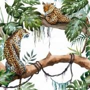 Papel De Parede Adesivo Animais Onça Leopardo