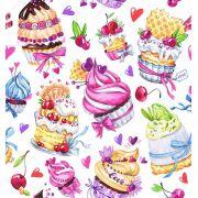 Papel De Parede Adesivo Doces Cupcakes