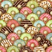 Papel De Parede Adesivo Donuts