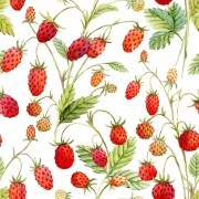Papel De Parede Adesivo Frutas Morango