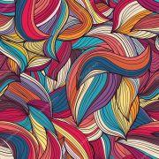 Papel De Parede Adesivo Ondas Coloridas
