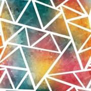 Papel De Parede Adesivo Triângulos Colorido Degrade