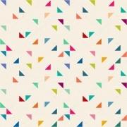 Papel De Parede Adesivo Triângulos Coloridos