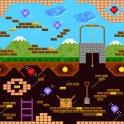Papel De Parede Adesivo Video Game Retro