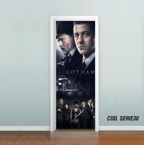 Adesivo De Porta Gotham Gordon Bruce mod02