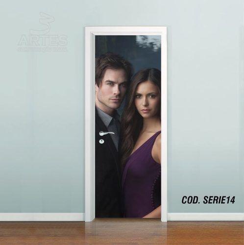 Adesivo De Porta The Vampire Diaries mod04