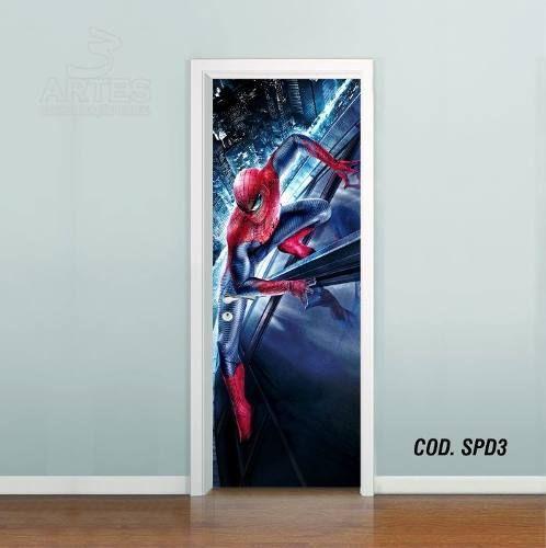 Adesivo De Porta Homem Aranha Spider Man mod03