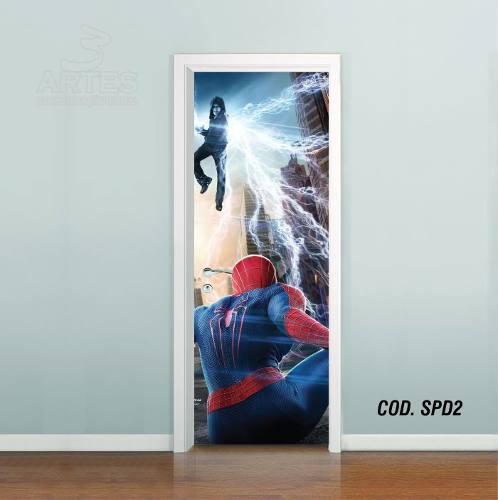 Adesivo De Porta Homem Aranha Spider Man #02