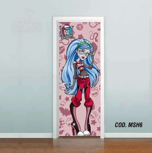 Adesivo De Porta Monster High mod06