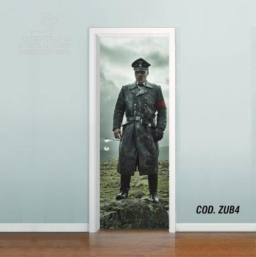 Adesivo De Porta Zumbi - Neve Nazista