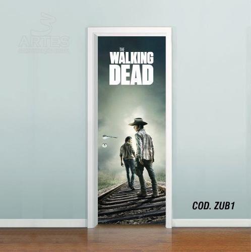 Adesivo De Porta The Walking Dead mod01