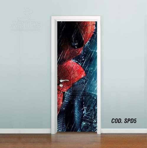 Adesivo De Porta Homem Aranha Spider Man mod05