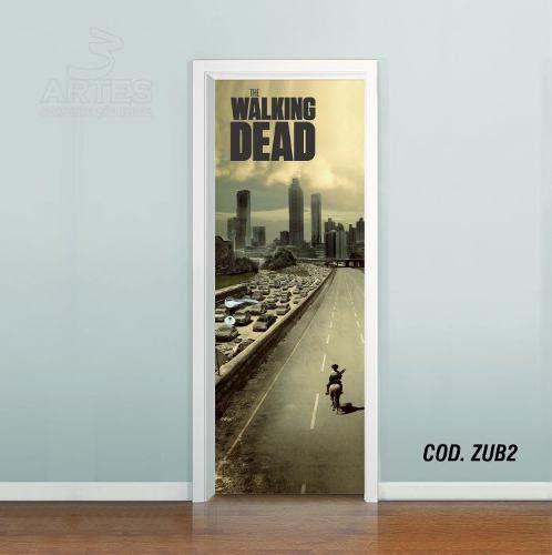 Adesivo De Porta The Walking Dead mod02