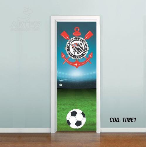 Adesivo De Porta Futebol Corinthians