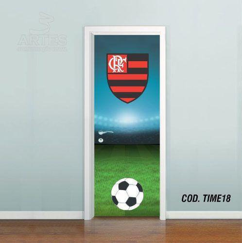 Adesivo De Porta Futebol Flamengo