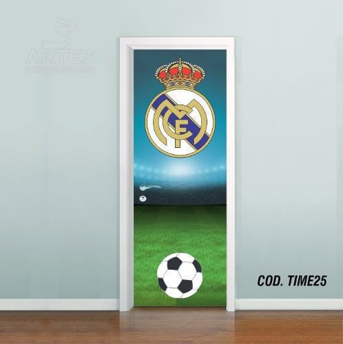 Adesivo De Porta Futebol Real Madrid