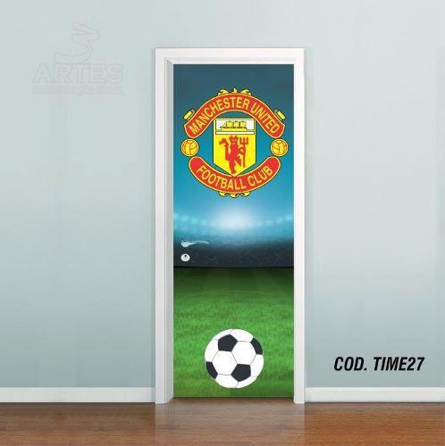 Adesivo De Porta Futebol Manchester United
