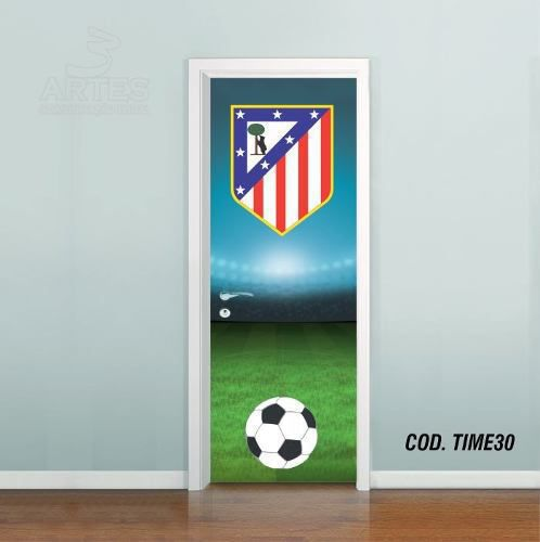 Adesivo De Porta Futebol Atlético De Madrid
