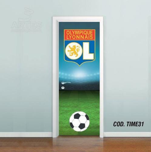 Adesivo De Porta Futebol Lyon