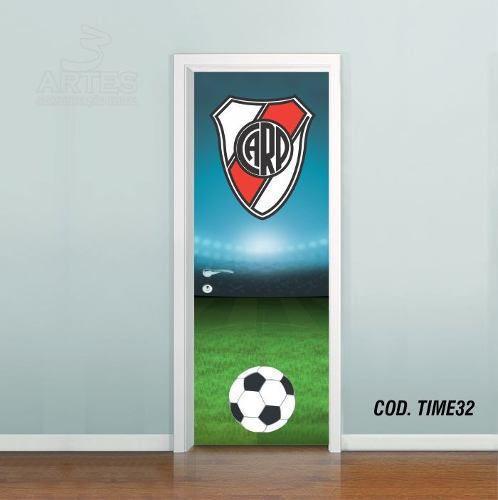 Adesivo De Porta Futebol River Plate