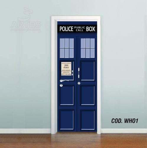 Adesivo De Porta Doctor Who Tardis