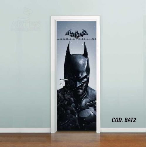 Adesivo De Porta Batman Arkham Origins