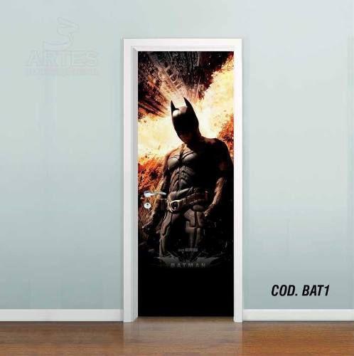 Adesivo De Porta Batman Gotham mod01