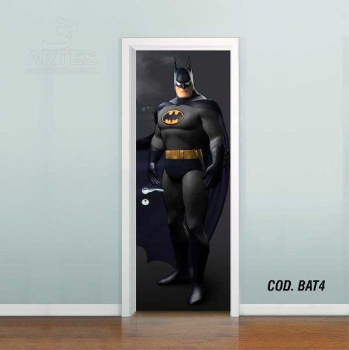 Adesivo De Porta Batman Gotham mod02