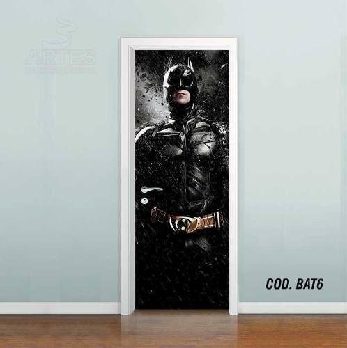 Adesivo De Porta Batman Cavaleiro Das Trevas #01