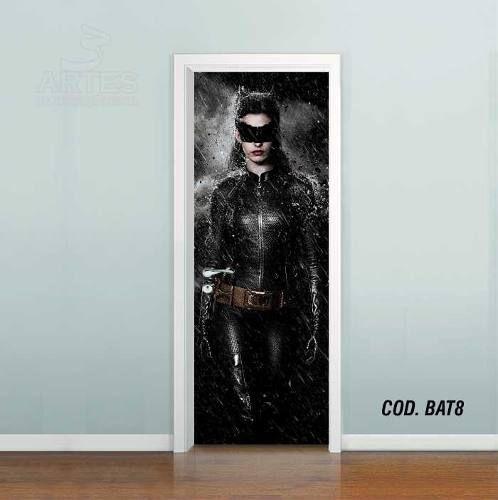 Adesivo De Porta Batman Mulher Gato