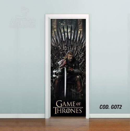 Adesivo De Porta Game Of Thrones mod02