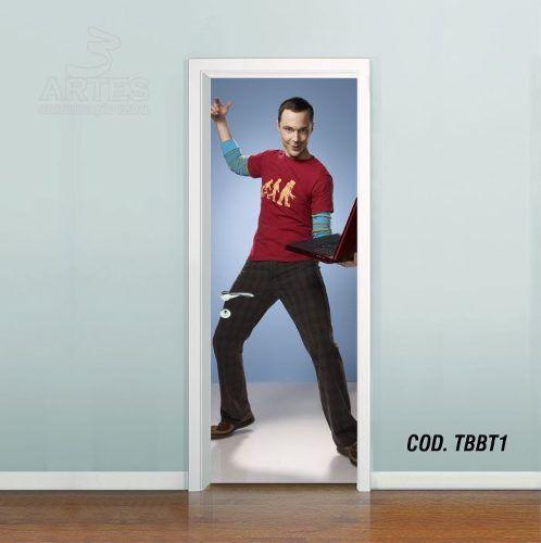 Adesivo De Porta Big Bang Theory