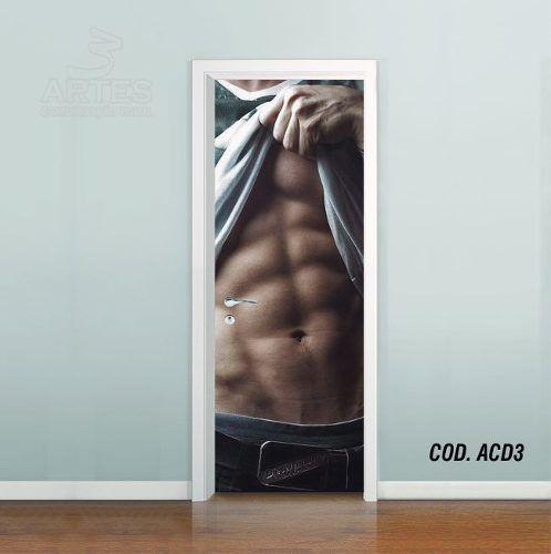 Adesivo De Porta Academia Fitness Musculação #03