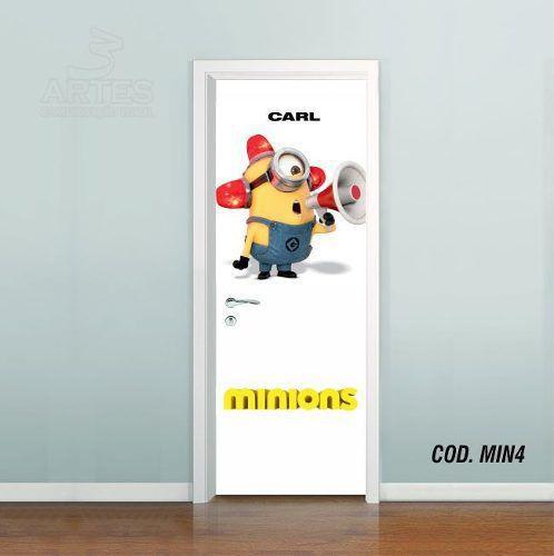 Adesivo De Porta Minions mod04