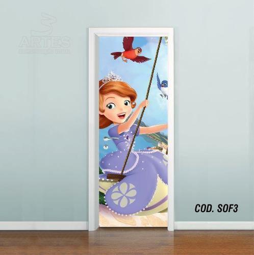 Adesivo De Porta Princesa Sofia mod03