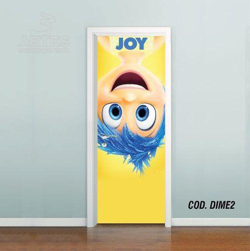 Adesivo De Porta Disney DivertidaMente mod02