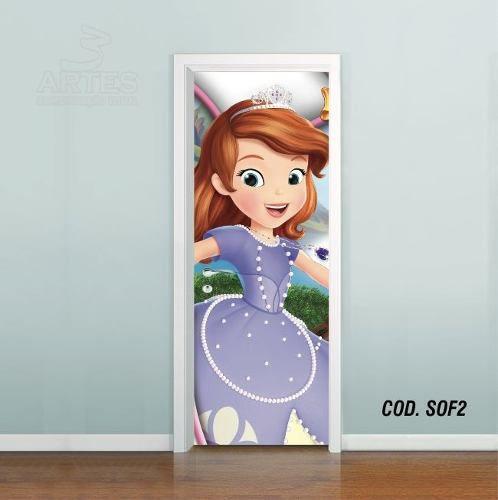 Adesivo De Porta Princesa Sofia mod02