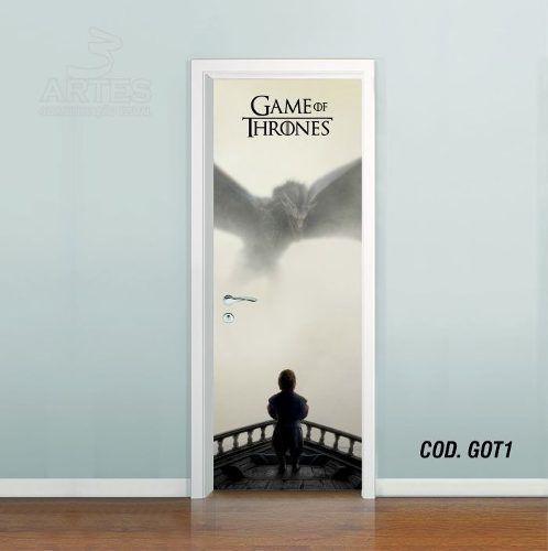Adesivo De Porta Game Of Thrones mod01