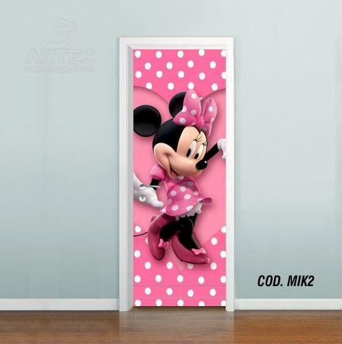 Adesivo De Porta Mickey Minnie Disney mod02