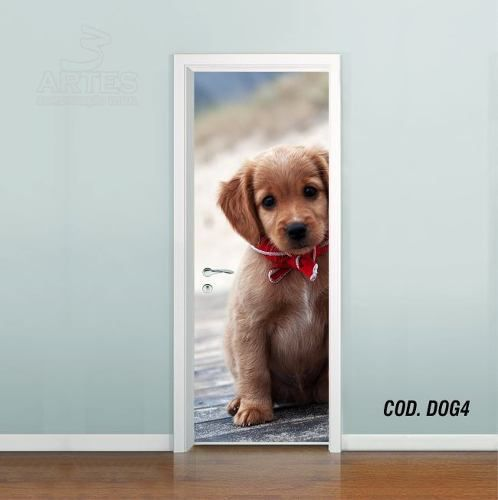 Adesivo De Porta Cachorro Pet Dog Puppy mod04