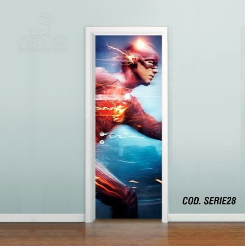 Adesivo De Porta The Flash Barry Allen #02