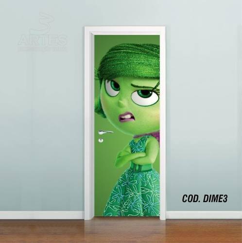 Adesivo De Porta Disney DivertidaMente mod03