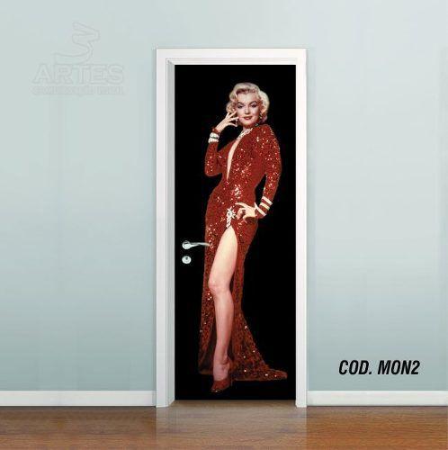 Adesivo De Porta Cinema Marilyn Monroe mod02