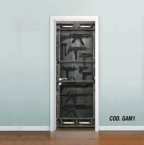 Adesivo De Porta Metal Core Armamento