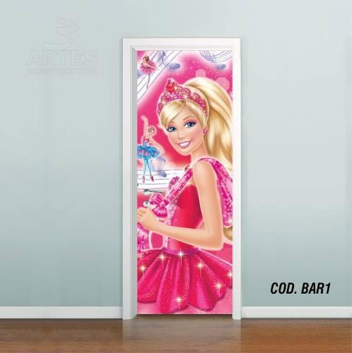 Adesivo De Porta Barbie Sapatilhas Magica mod01