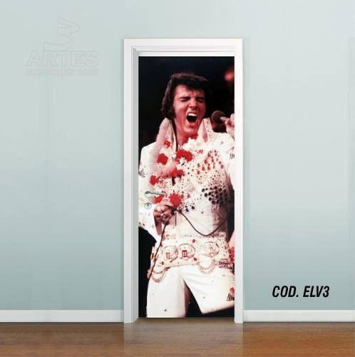 Adesivo De Porta Elvis Presley - Rei Rock mod03