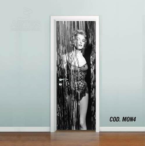 Adesivo De Porta Cinema Marilyn Monroe mod04